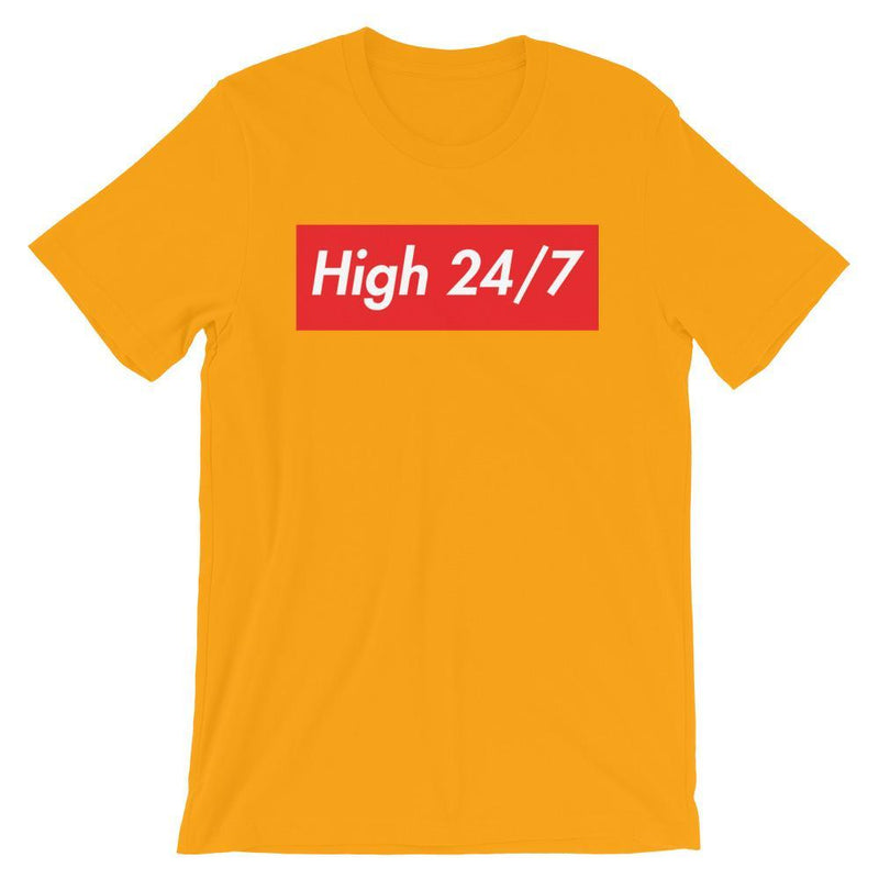Repparel High 24/7 Gold / S Hypebeast Streetwear Eco-Friendly Full Cotton T-Shirt