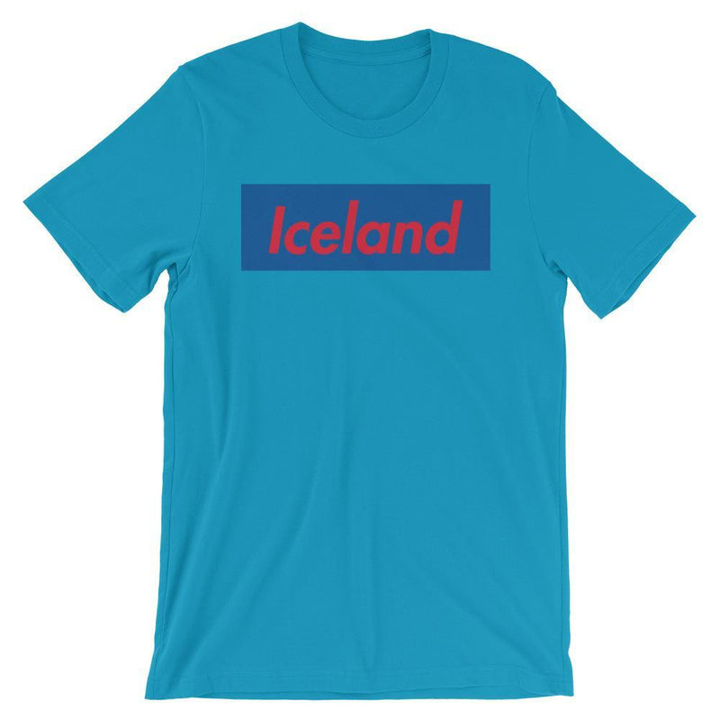 Repparel Iceland Aqua / S Hypebeast Streetwear Eco-Friendly Full Cotton T-Shirt