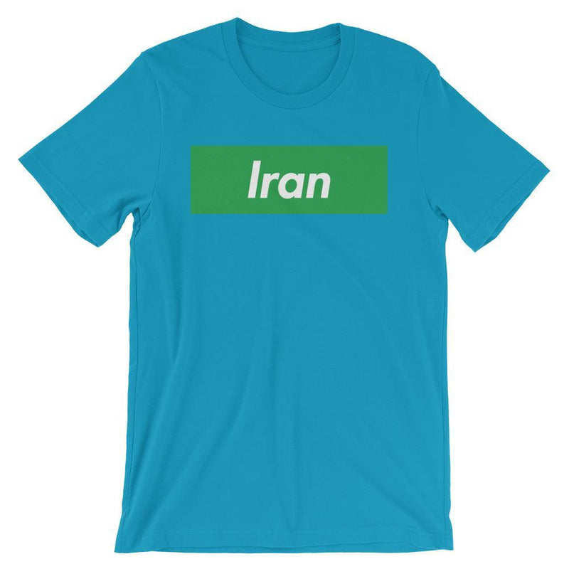 Repparel Iran Aqua / S Hypebeast Streetwear Eco-Friendly Full Cotton T-Shirt