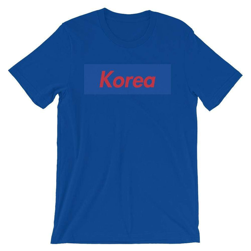 Repparel Korea True Royal / S Hypebeast Streetwear Eco-Friendly Full Cotton T-Shirt