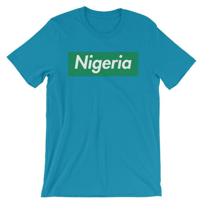 Repparel Nigeria Aqua / S Hypebeast Streetwear Eco-Friendly Full Cotton T-Shirt
