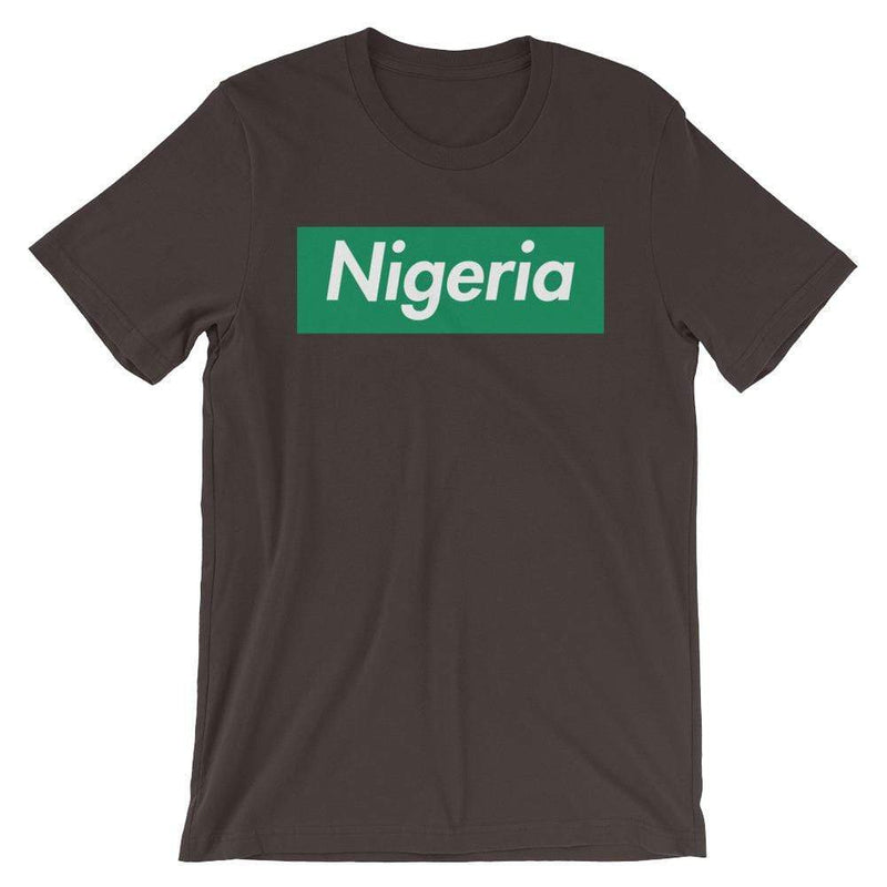 Repparel Nigeria Brown / S Hypebeast Streetwear Eco-Friendly Full Cotton T-Shirt