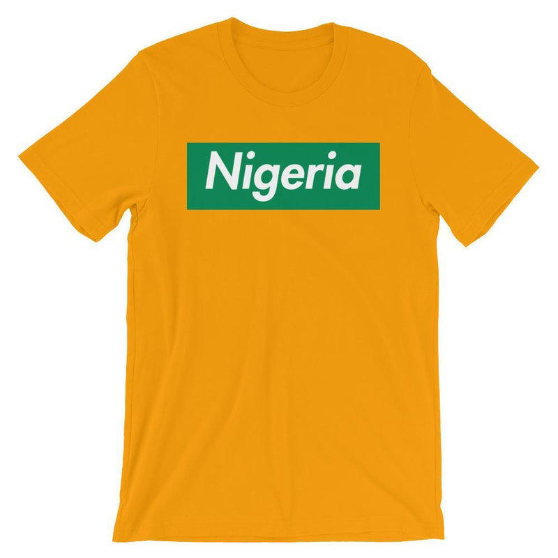 Repparel Nigeria Gold / S Hypebeast Streetwear Eco-Friendly Full Cotton T-Shirt