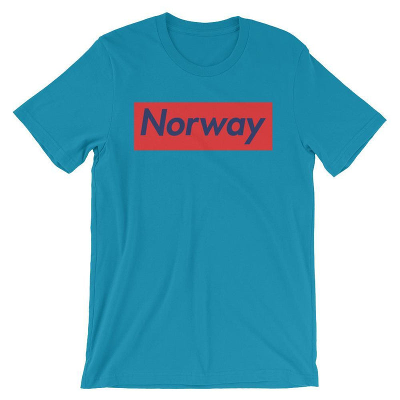 Repparel Norway Aqua / S Hypebeast Streetwear Eco-Friendly Full Cotton T-Shirt
