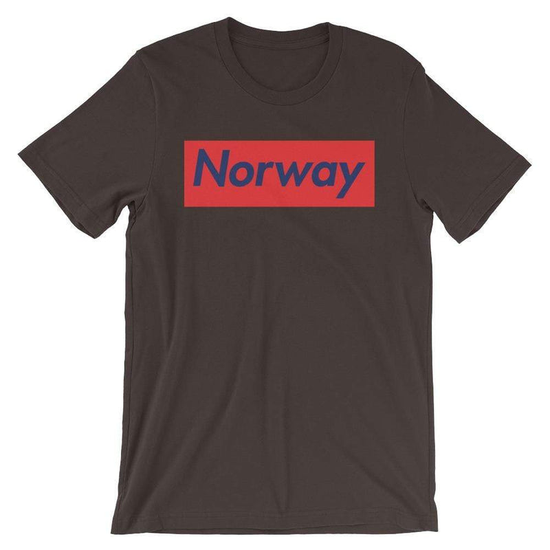 Repparel Norway Brown / S Hypebeast Streetwear Eco-Friendly Full Cotton T-Shirt
