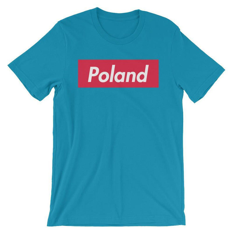 Repparel Poland Aqua / S Hypebeast Streetwear Eco-Friendly Full Cotton T-Shirt