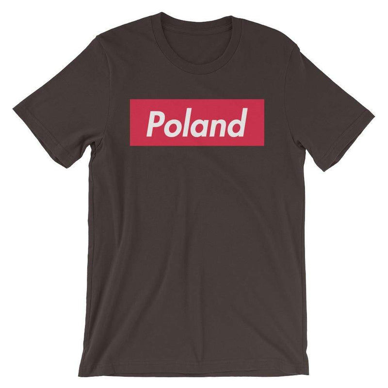 Repparel Poland Brown / S Hypebeast Streetwear Eco-Friendly Full Cotton T-Shirt