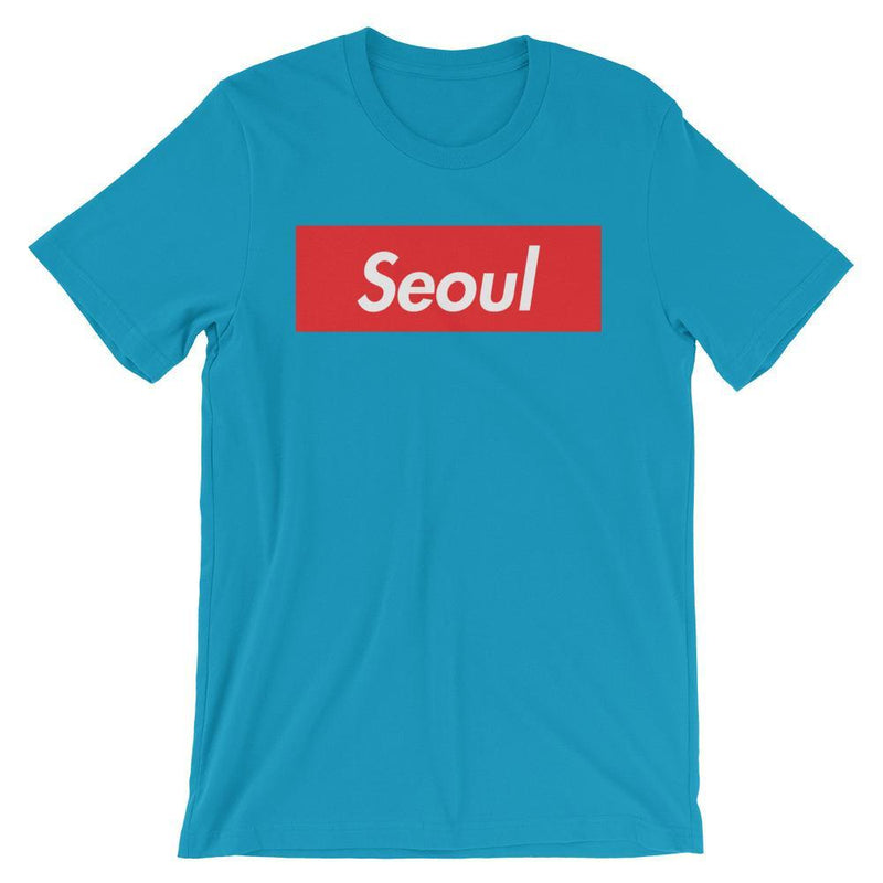 Repparel Seoul Aqua / S Hypebeast Streetwear Eco-Friendly Full Cotton T-Shirt