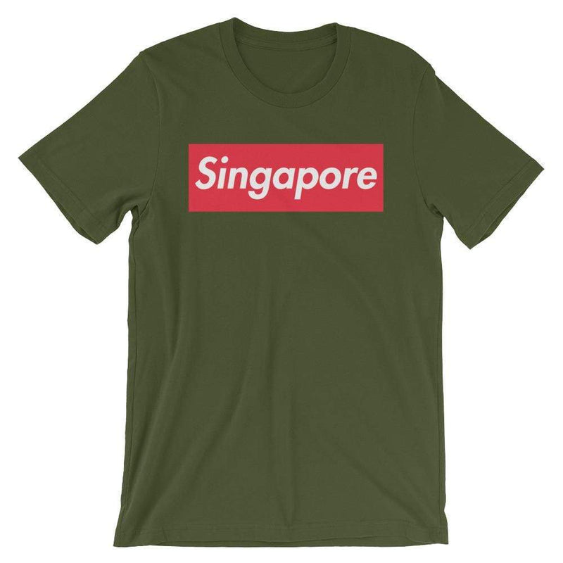 Repparel Singapore Olive / S Hypebeast Streetwear Eco-Friendly Full Cotton T-Shirt