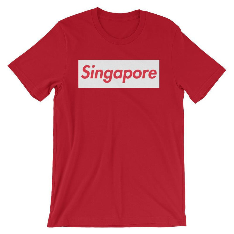 Repparel Singapore Red / S Hypebeast Streetwear Eco-Friendly Full Cotton T-Shirt