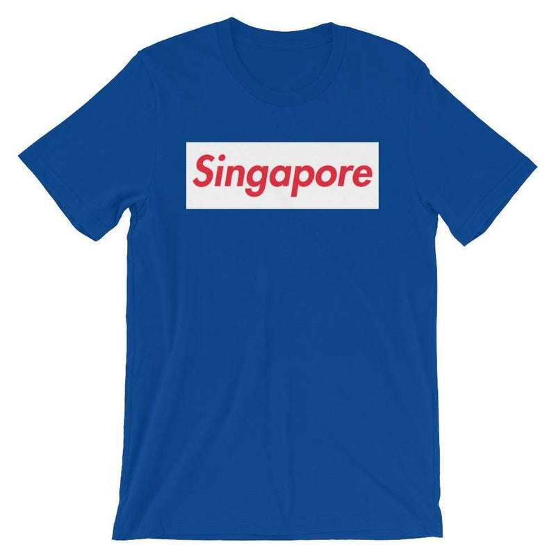 Repparel Singapore True Royal / S Hypebeast Streetwear Eco-Friendly Full Cotton T-Shirt
