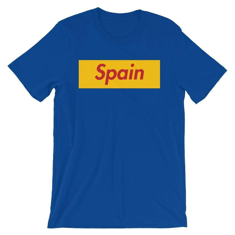 Repparel Spain True Royal / S Hypebeast Streetwear Eco-Friendly Full Cotton T-Shirt