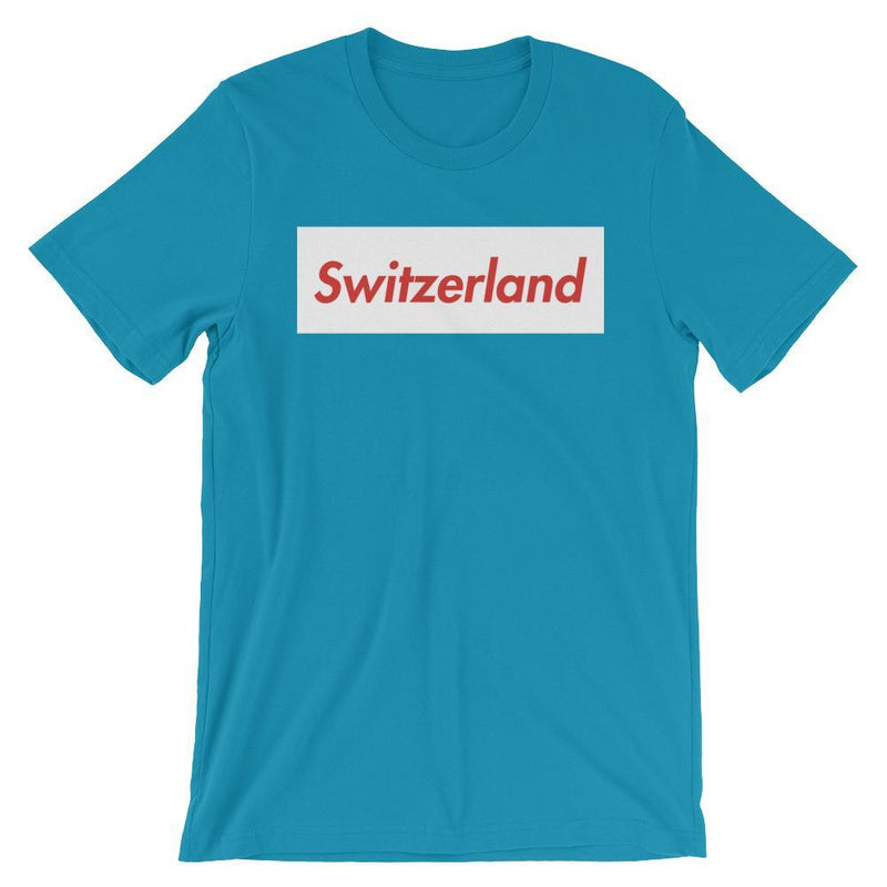 Repparel Switzerland Aqua / S Hypebeast Streetwear Eco-Friendly Full Cotton T-Shirt