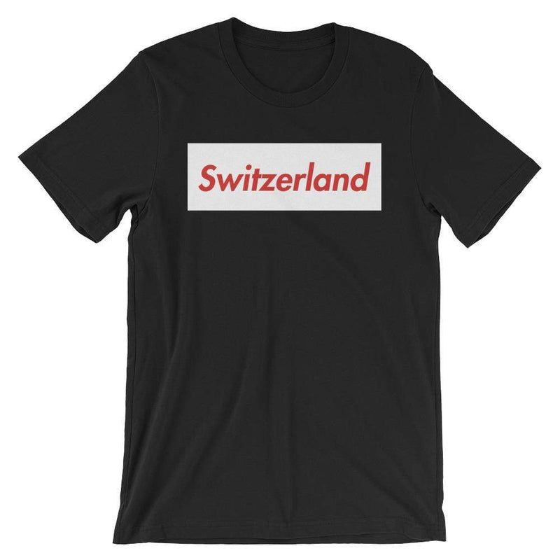Repparel Switzerland Black / XS Hypebeast Streetwear Eco-Friendly Full Cotton T-Shirt