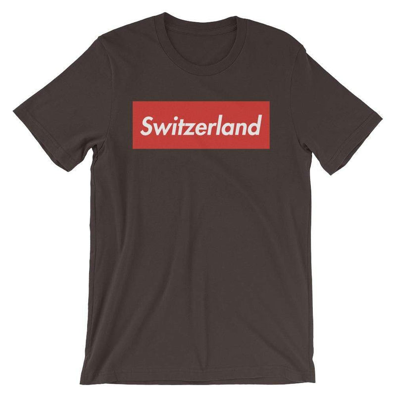 Repparel Switzerland Brown / S Hypebeast Streetwear Eco-Friendly Full Cotton T-Shirt