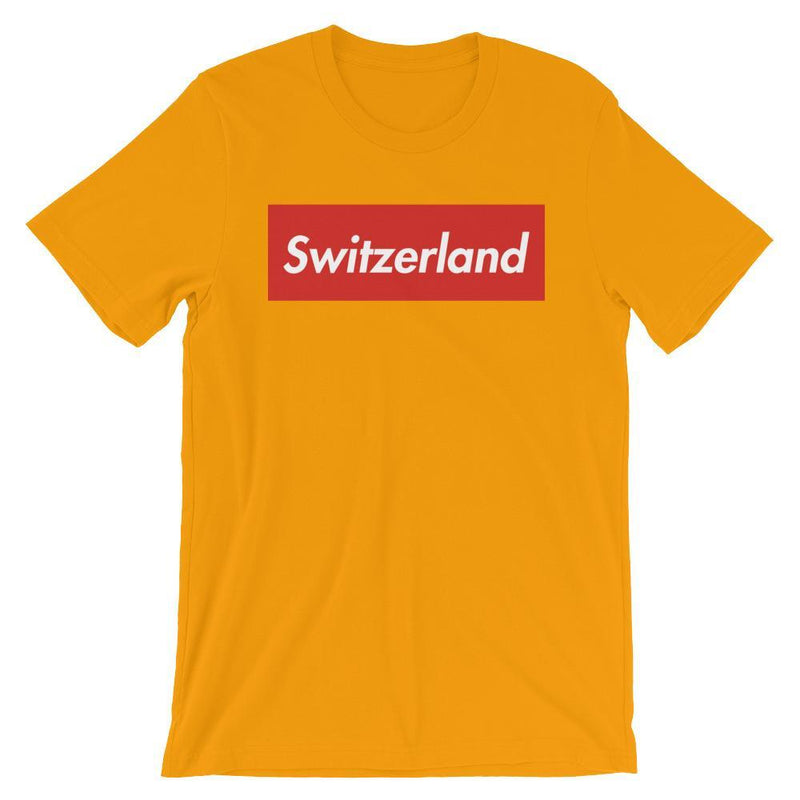 Repparel Switzerland Gold / S Hypebeast Streetwear Eco-Friendly Full Cotton T-Shirt