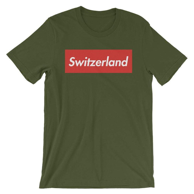 Repparel Switzerland Olive / S Hypebeast Streetwear Eco-Friendly Full Cotton T-Shirt