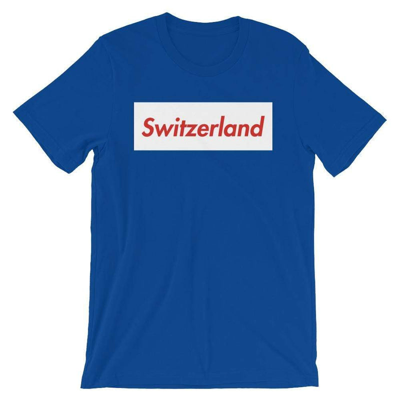 Repparel Switzerland True Royal / S Hypebeast Streetwear Eco-Friendly Full Cotton T-Shirt