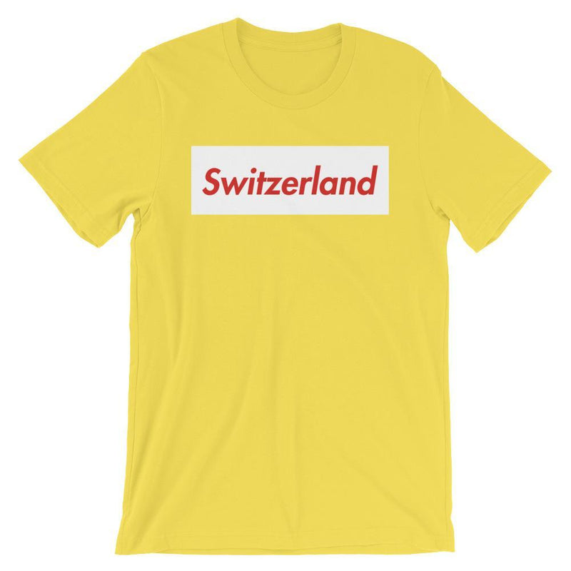 Repparel Switzerland Yellow / S Hypebeast Streetwear Eco-Friendly Full Cotton T-Shirt