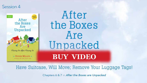 Session 4 - Have Suitcase, Will Move. Remove Your Luggage Tags: Emotions - video buy