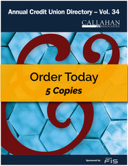 5 Copies: Annual Credit Union Directory Volume 34 - Book Only