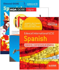 Spanish textbook and practice books