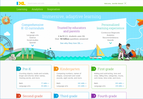 1st Grade IXL subscription
