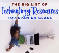 Yearly technology subscriptions for Spanish class