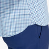 Lightweight Leeward Popover - Light Blue Navy Multi Check, lifestyle/model photo