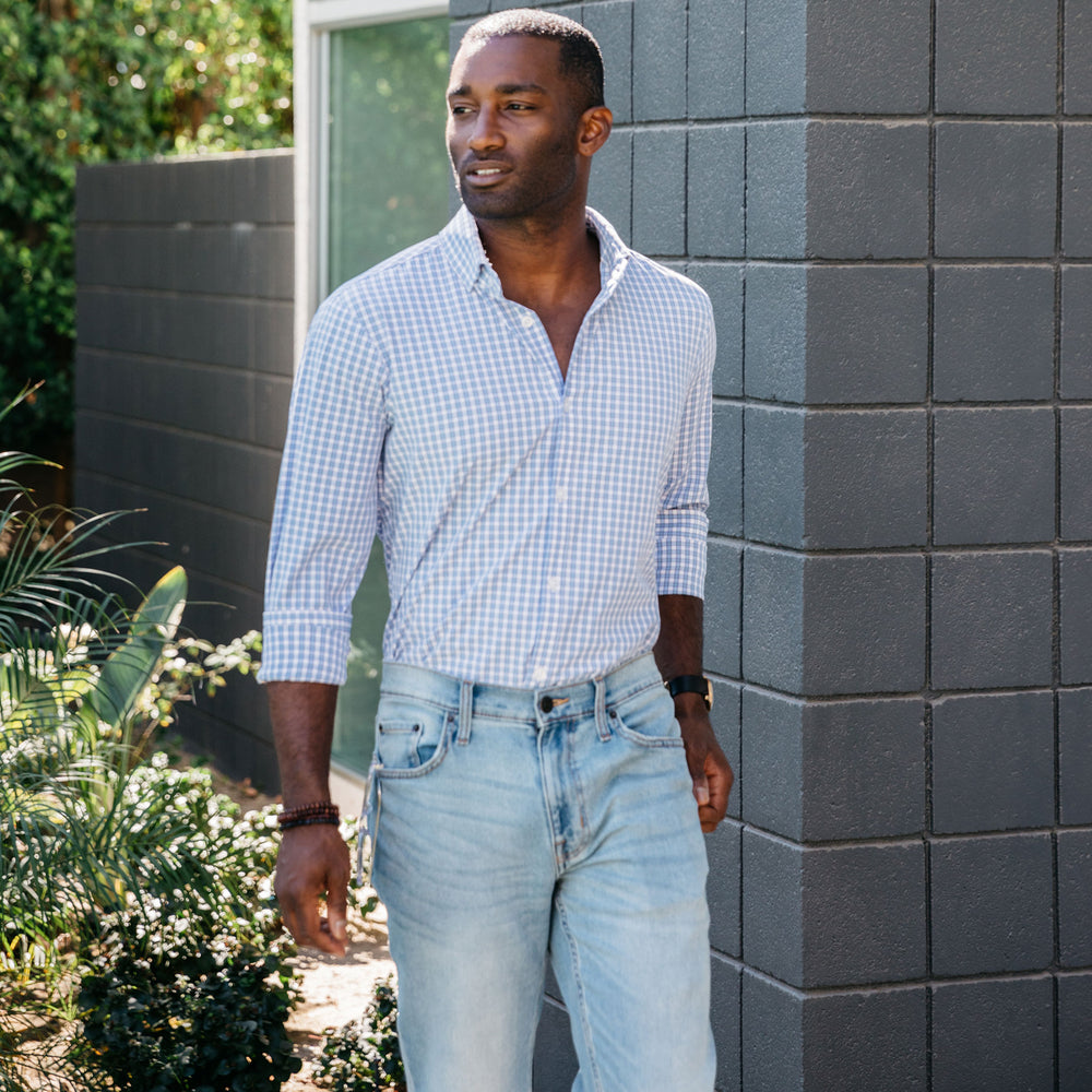Alexander - Light Blue Check, lifestyle/model photo