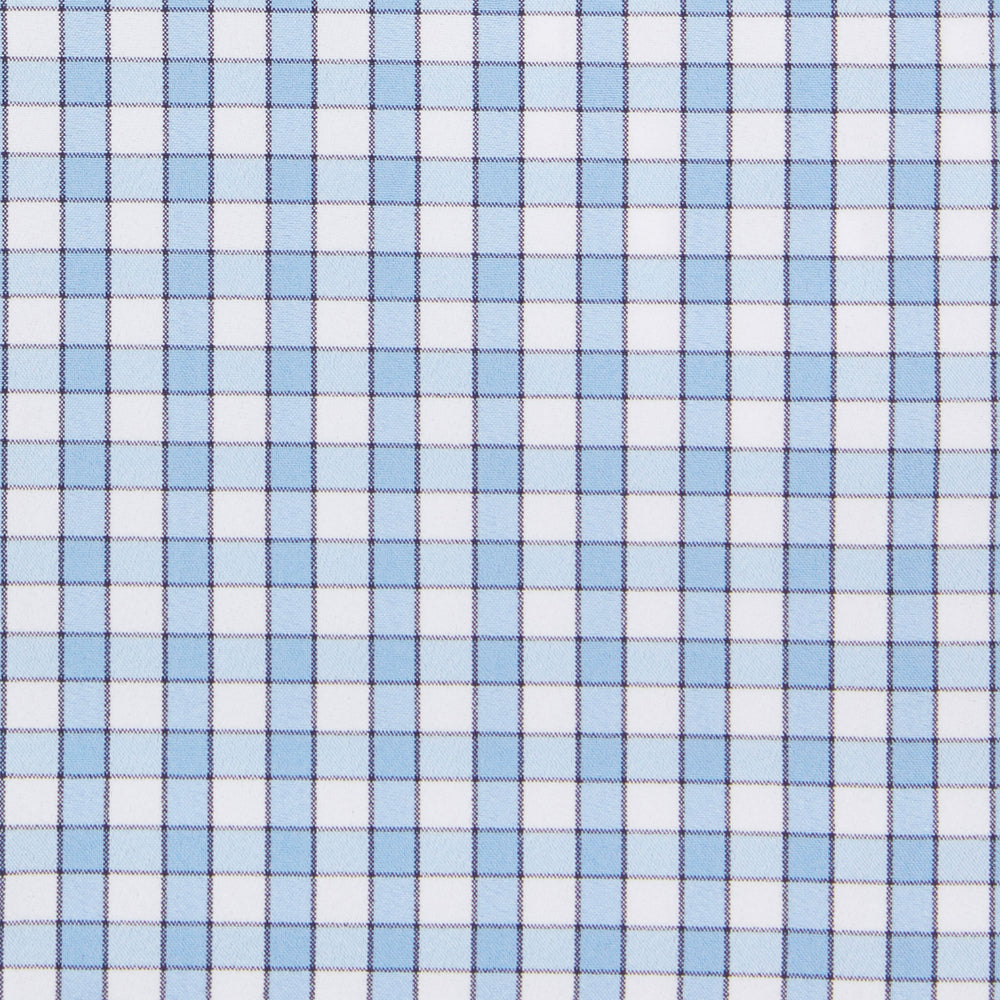 Alexander - Light Blue Check, fabric swatch closeup