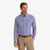 Leeward Dress Shirt - Blue White Check, lifestyle/model photo