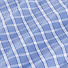 Leeward Dress Shirt - Blue White Check, fabric swatch closeup