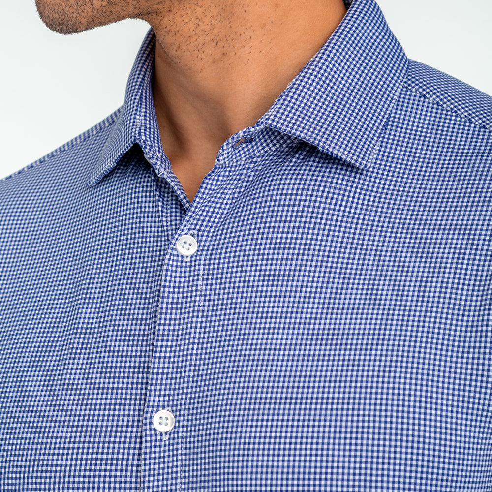 Beckett - Blue Gingham, lifestyle/model photo