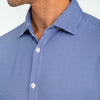 Spinnaker Dress Shirt - Blue Mini Gingham, lifestyle/model photo