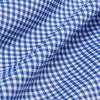 Spinnaker Dress Shirt - Blue Mini Gingham, fabric swatch closeup