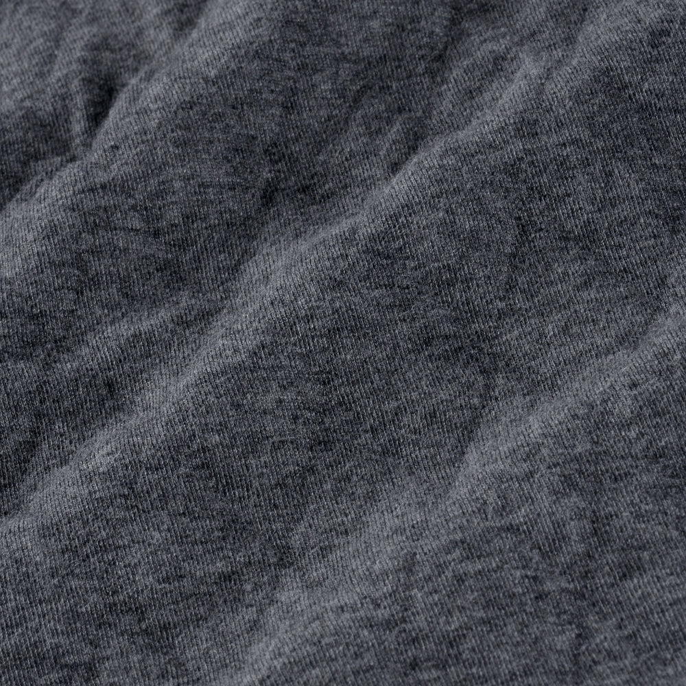 Belson - Charcoal Heather, fabric swatch closeup