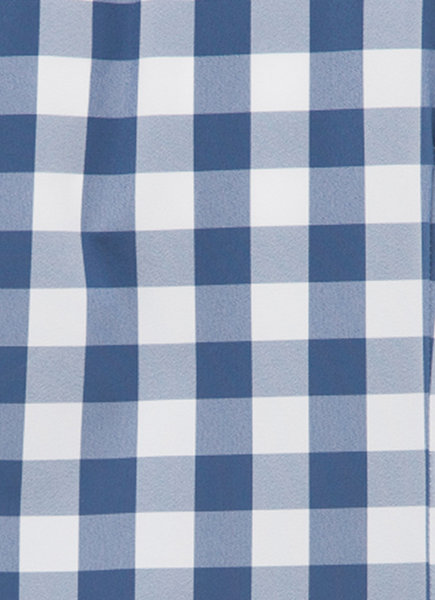 """Blackburn"" Short Sleeve Navy Gingham"