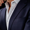 Leeward Dress Shirt - Navy Grid, lifestyle/model photo