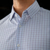 Leeward Dress Shirt - Light Blue Navy Tattersall, lifestyle/model photo