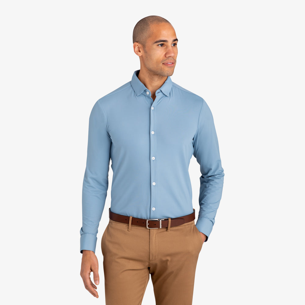 Cunningham - Light Blue Solid, lifestyle/model photo