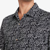 Capri Camp Shirt - Black White Floral Print, lifestyle/model photo