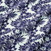 Capri Camp Shirt - Navy Aqua Floral Print, fabric swatch closeup