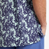 Capri Camp Shirt - Navy Aqua Floral Print, lifestyle/model photo