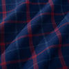 City Flannel - Blue Red Plaid, fabric swatch closeup