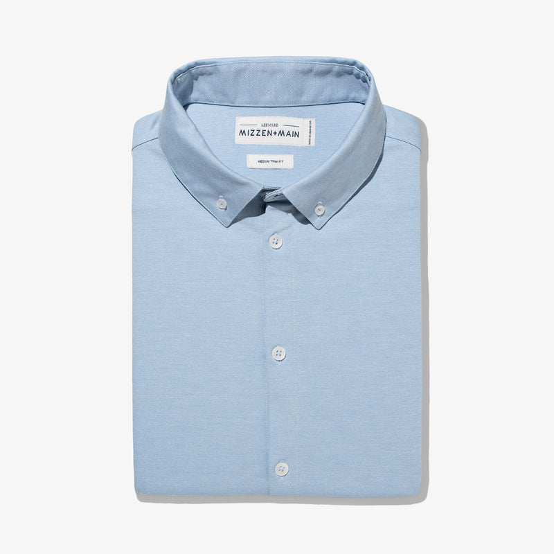 Cunningham Dress Shirt - Light Blue Heather, featured product shot