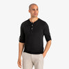Henley - Solid Black Henley, lifestyle/model photo