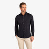 Spinnaker Dress Shirt - Black Solid, lifestyle/model photo