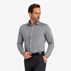 Spinnaker Dress Shirt - Gray Mini Gingham, lifestyle/model photo