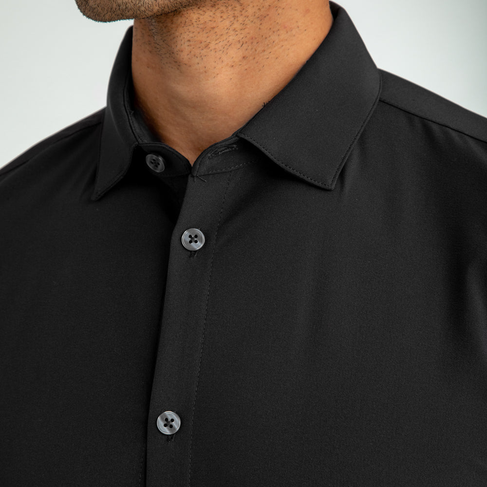 Leeward Dress Shirt - Black Solid, lifestyle/model photo